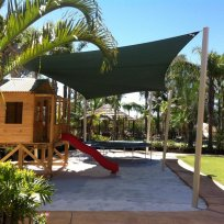Shade sail over play ground
