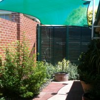 Shade sail over your garden